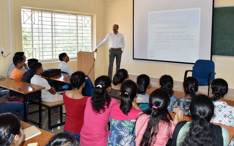 Career Awareness Workshop at CIT Ponnampet by Wing Commander Prithvi Ponnappa.
