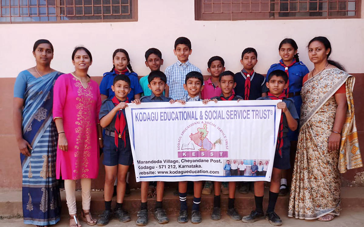 Children from Sainik School Coaching project.